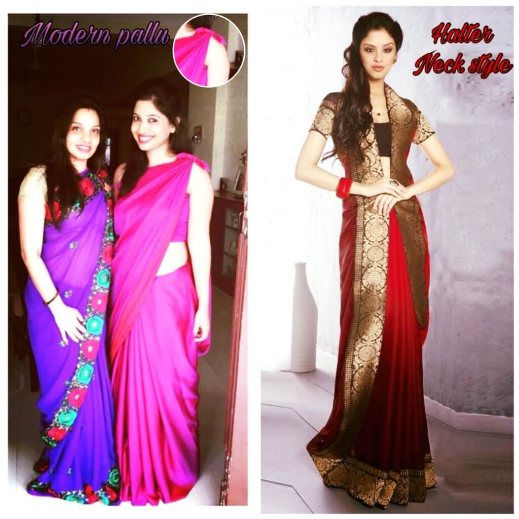 How To Wear Saree In Modern Pallu Style Best Saree Draper In India Mayuri Saree Draping